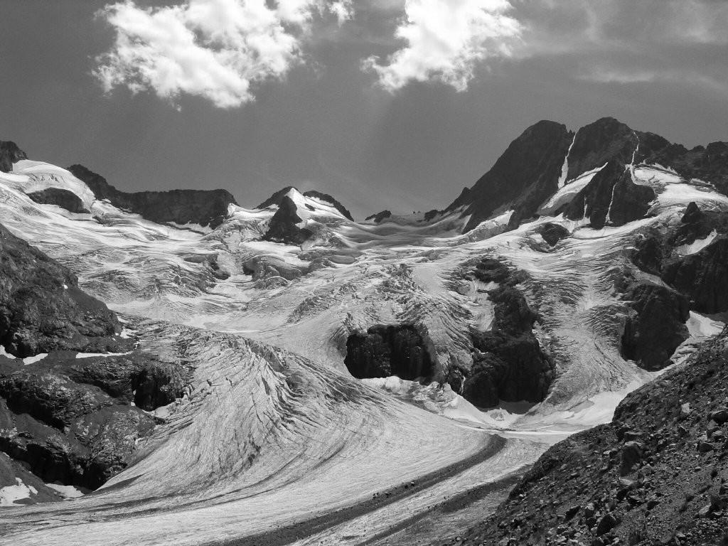 Les Bans et le glacier de la Pilatte