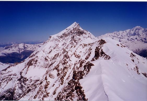 Vue sur el Mont Pourri depuis le Dôme de la Sache