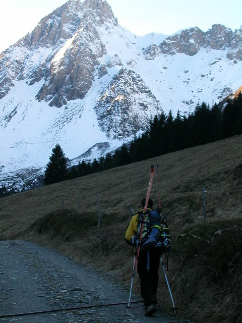 Sylvain en route pour le col de chasseurs