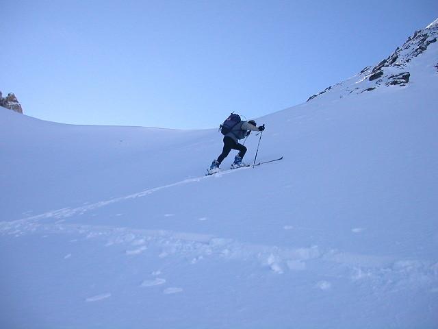 Laurent ,bientot au Col des Chasseurs.
