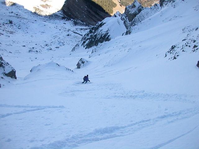 Laurent dans la Combe Nord du Col des Chasseurs