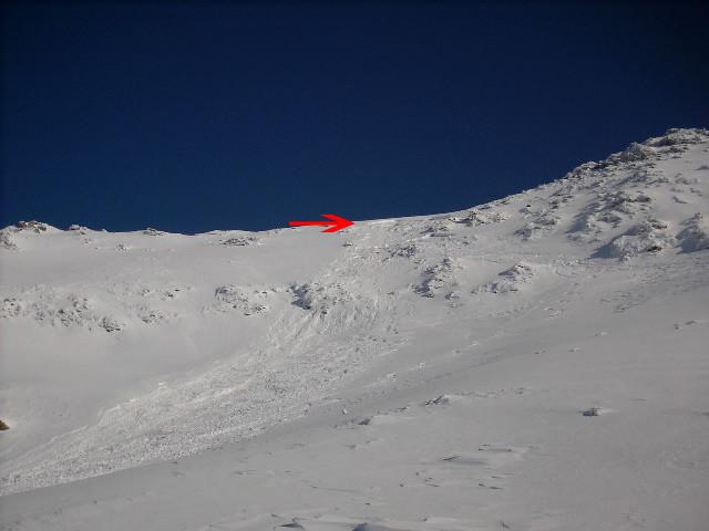 Avalanche à la Pointe de Barasson 2