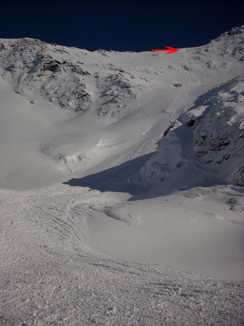 Avalanche à la Pointe de Barasson 4