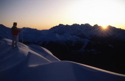 Ski sur les hauts de Verbier