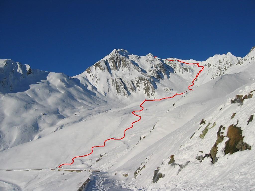 itinerario alla Aiguille des Sasses