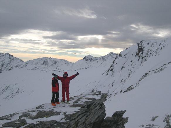 Io e Beppe in punta al Marscholhorn