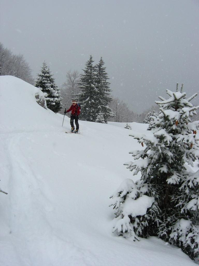 Belle neige mais mauvais temps
