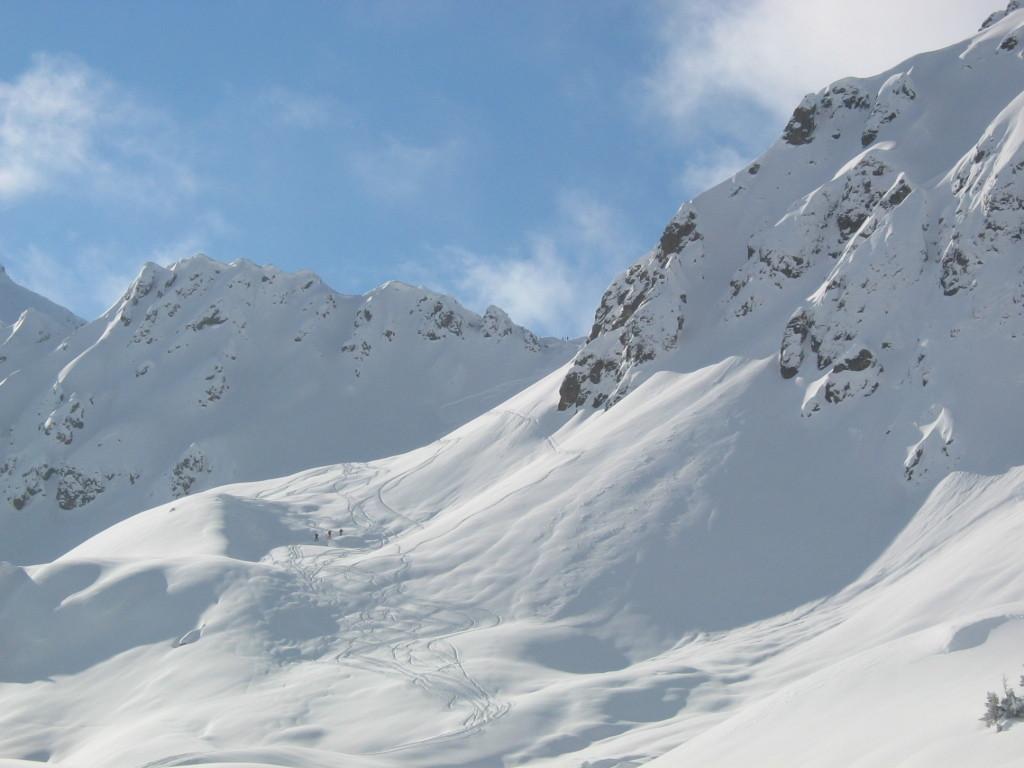 Le col de la Fenetre vu du plateau supérieur