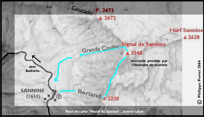 Carte itineraire Berland