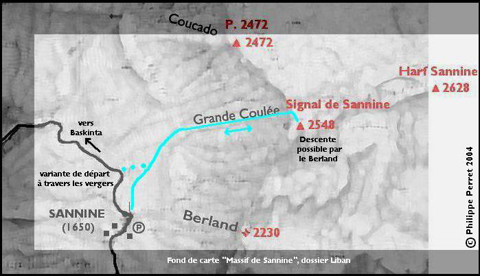 carte itineraire Grande Coulee