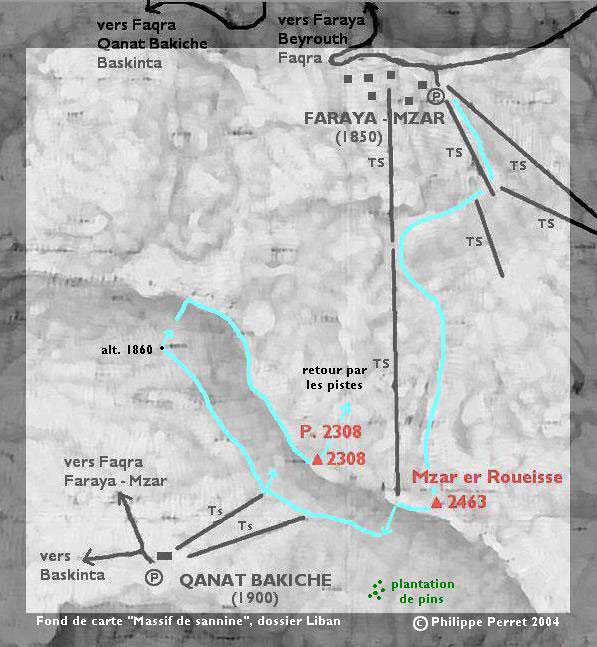 carte itineraire Mzar er Roueisse