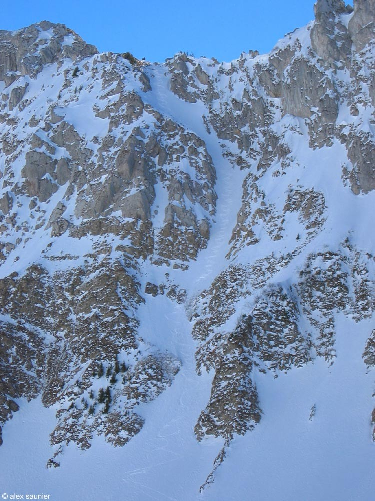 Pointe d'Arvouin : Couloir du Serpent