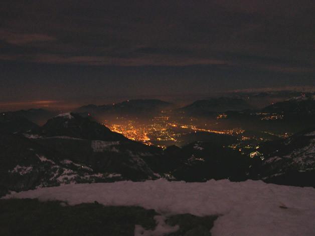 Le luci di Lugano dal Gazzirola