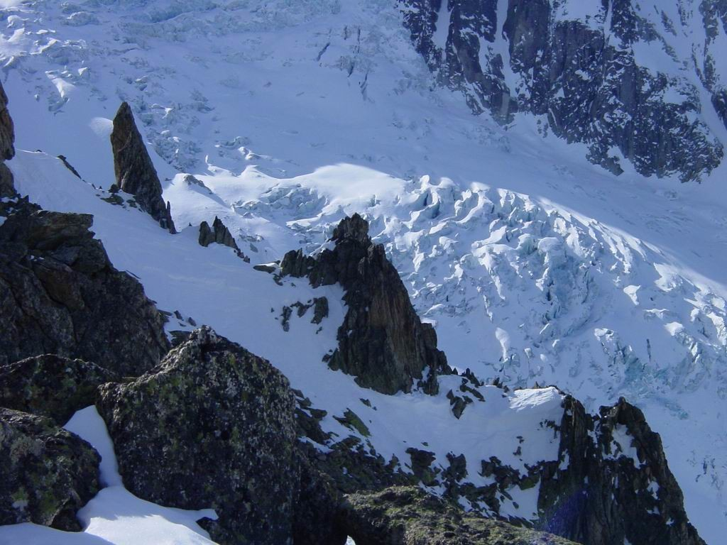 Détail sur le glacier du Trient