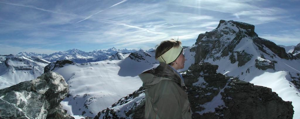 Vue du Tierhörnli sur le Rote Totz et le Steghorn