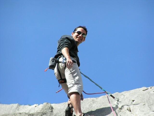 "- Franck VUAILLAT - ""le chemin du sherpa, 6a"""