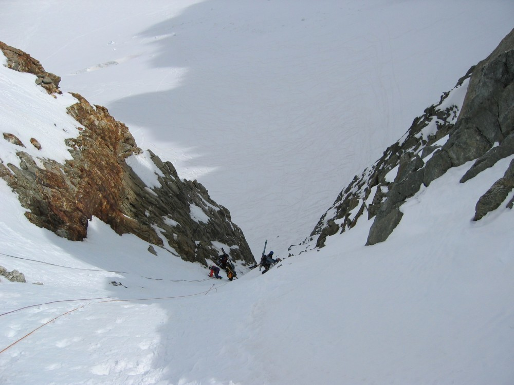 Couloir du Col du Chardonnet vers glacier de Saleina