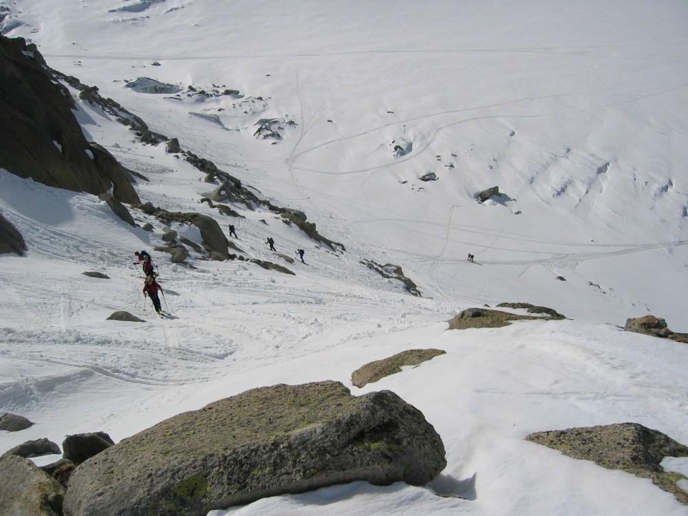 Moraine du glacier d'argentiere