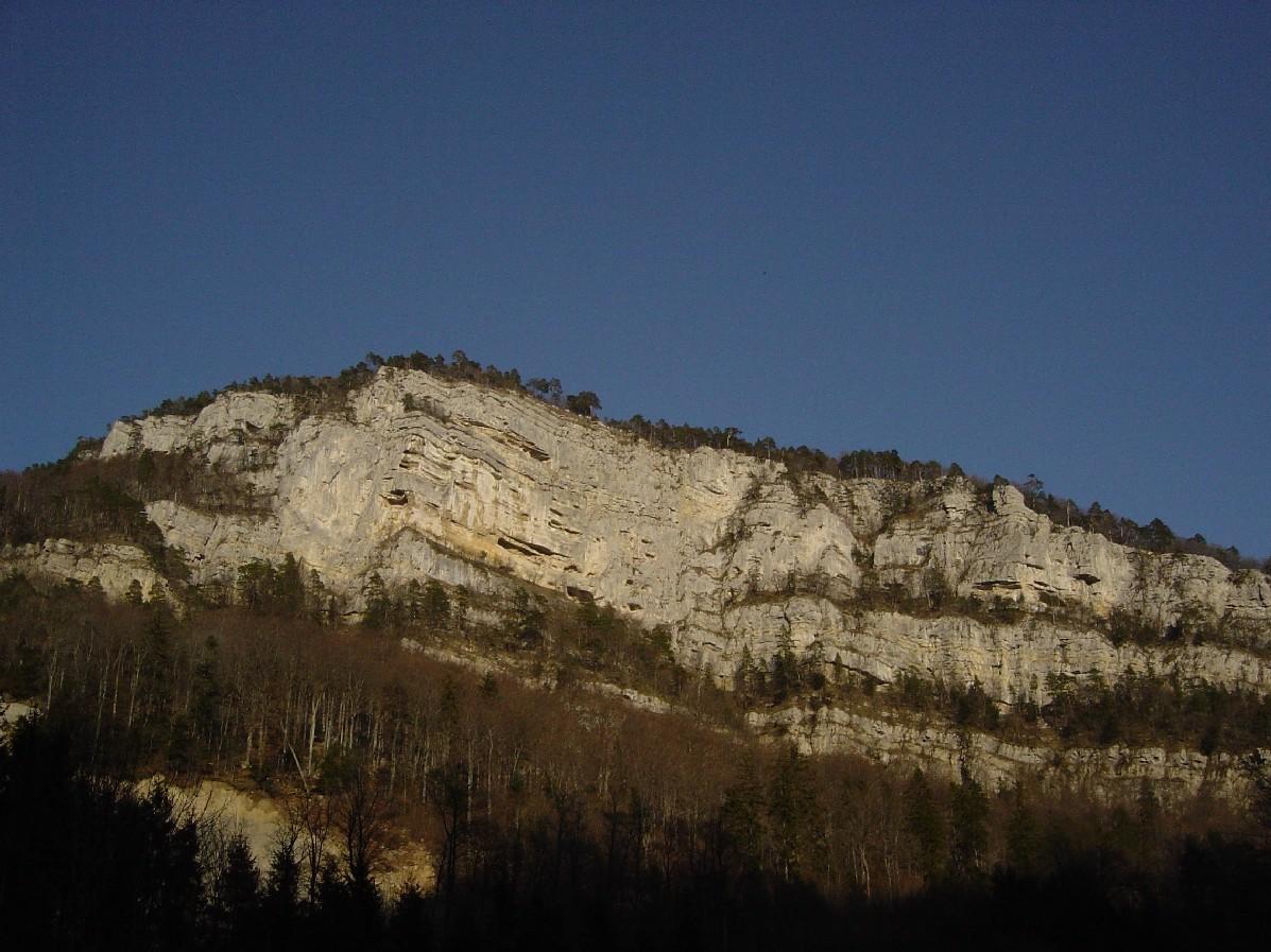 Les rochers de Plagne, Suisse.