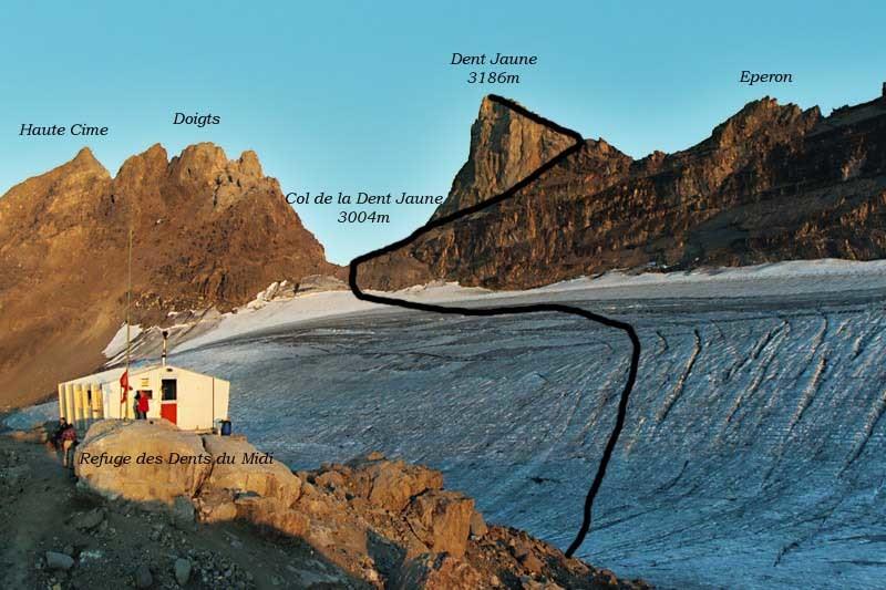 Glacier de Plan Névé, Dents du Midi