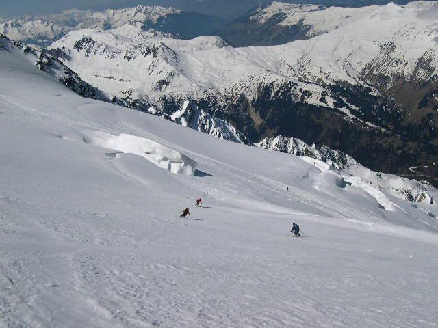 Discesa sul Glacier d'Armancette