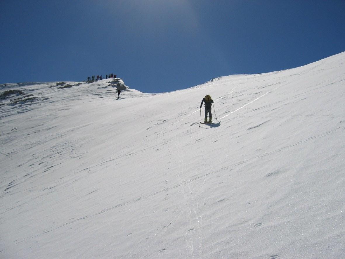 Pointe des cerces : derniers mètres vers le sommet