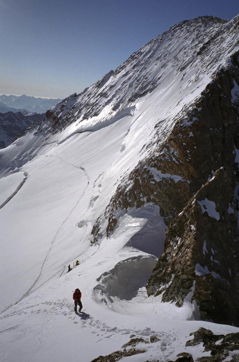 Barre des Ecrins depuis la montée au Dôme.