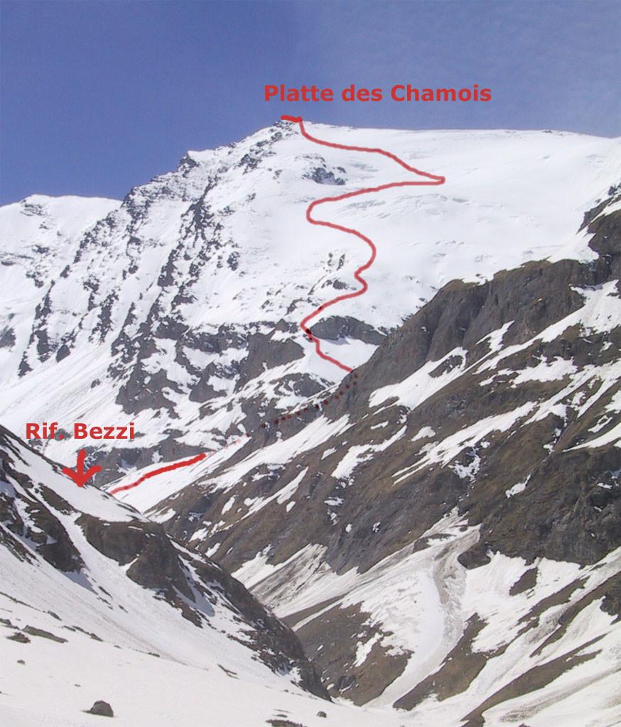 La salita vista dall'Alpe Vaudet