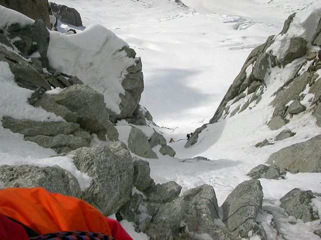 Couloir Whymper ,partie initiale .