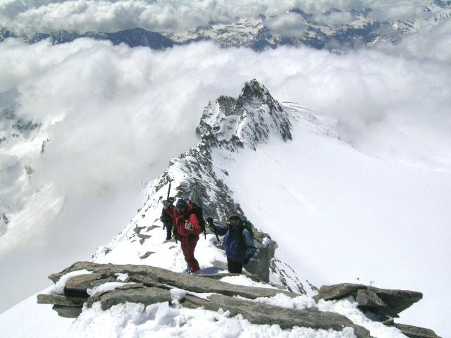 Monte Leone , sulla cresta W
