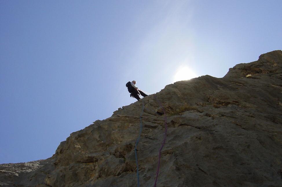 Descente du Rocher de Piroulire