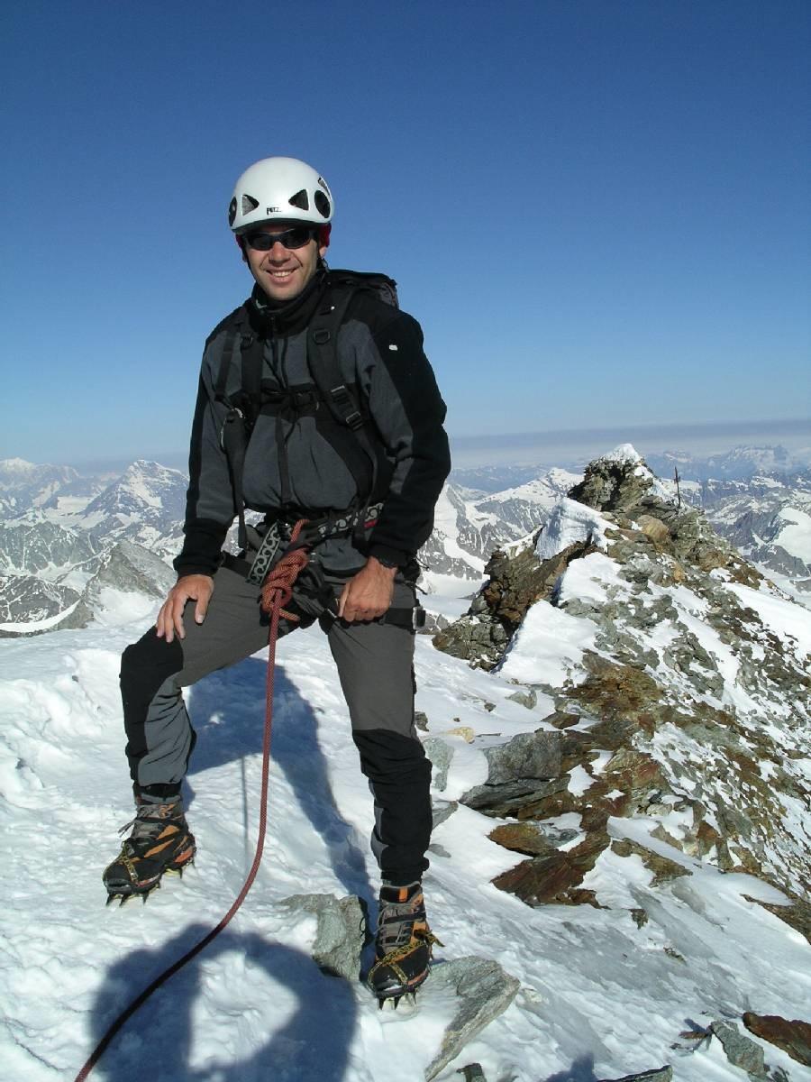 Philippe au sommet du Matterhorn