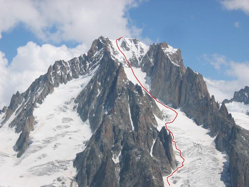 Aig. d'Argentière, Glacier du Milieu
