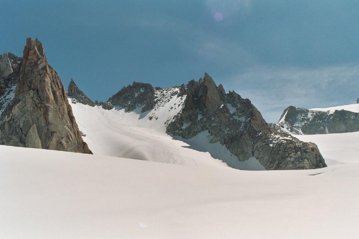 Col Supérieur du Tour vu depuis le Glacier du Tour