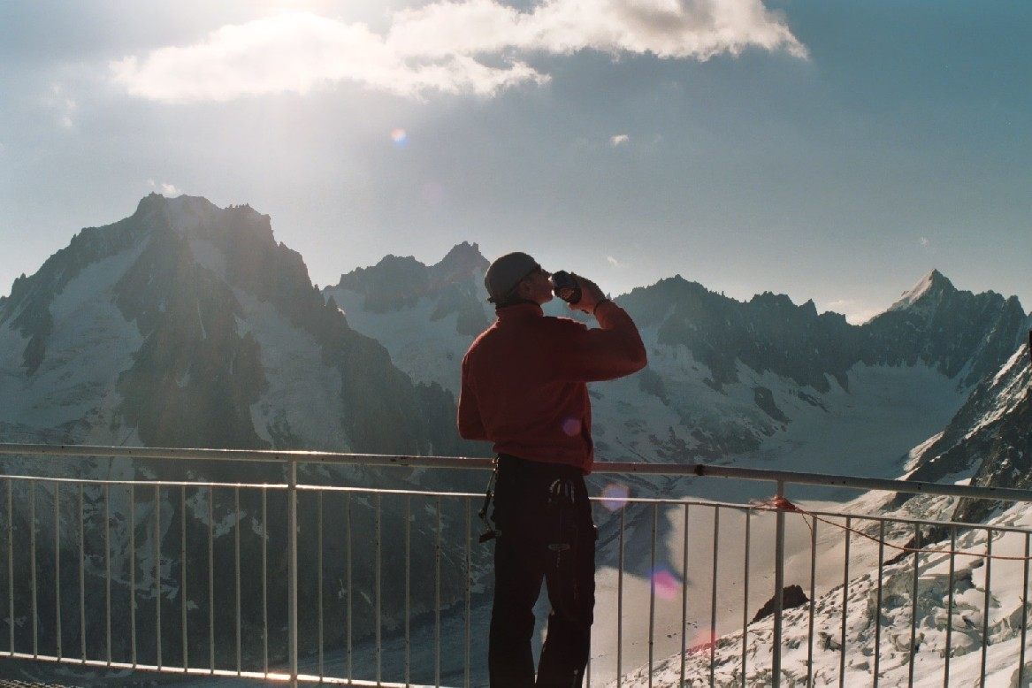 Fab au-dessus du Glacier d'Argentière