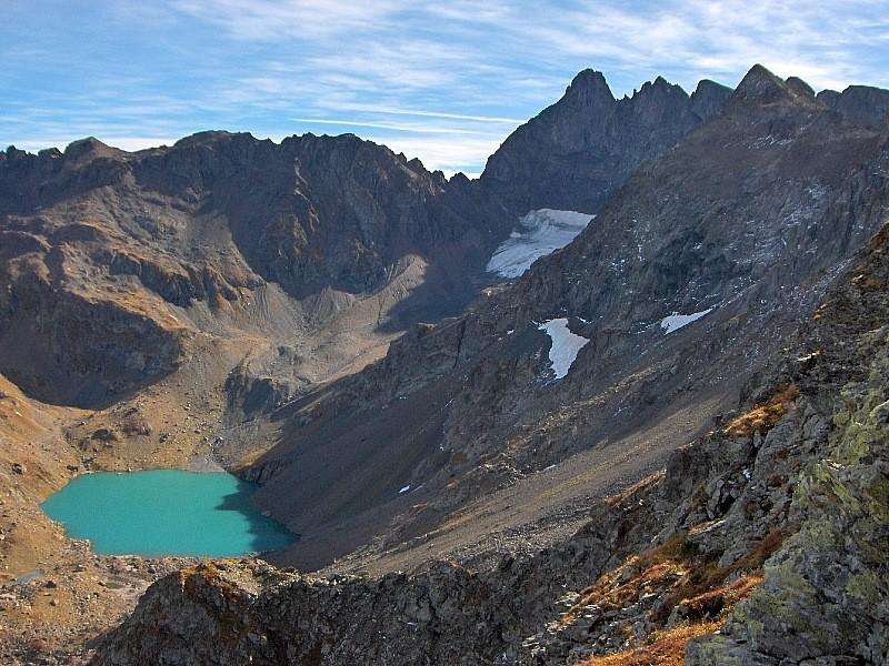 Lac Blanc, glacier de Freydane et Gd.Pic de Belledonne