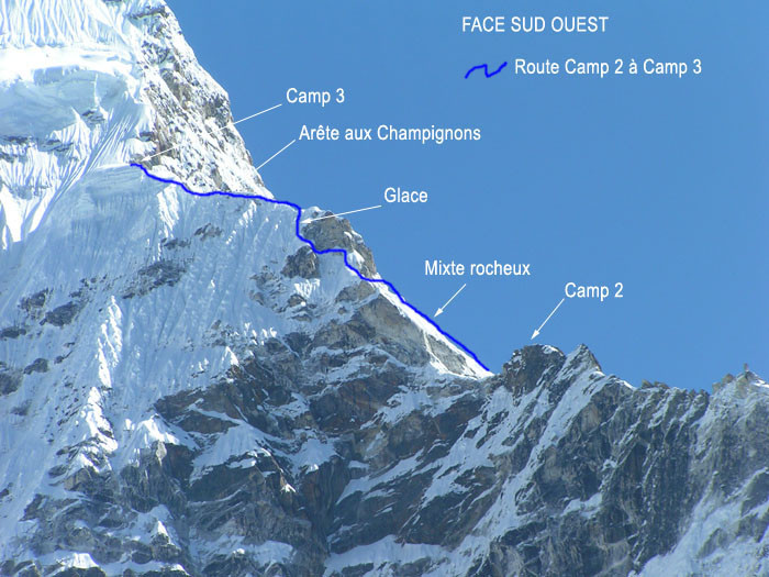 Ama Dablam route to Camp 3