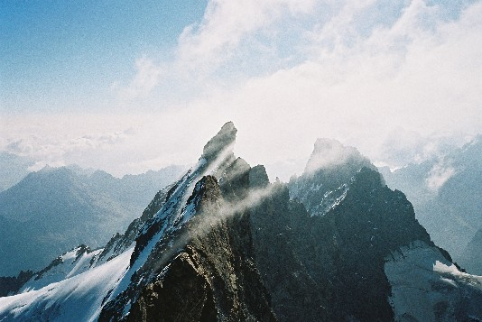 Meije - Grand Pic: L'arrêt jusqu'au Doigt de Dieu