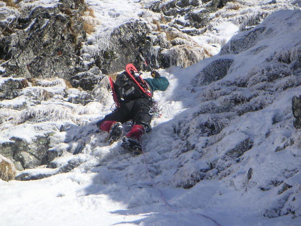 Passage en glace fine aux Grandes Lanches