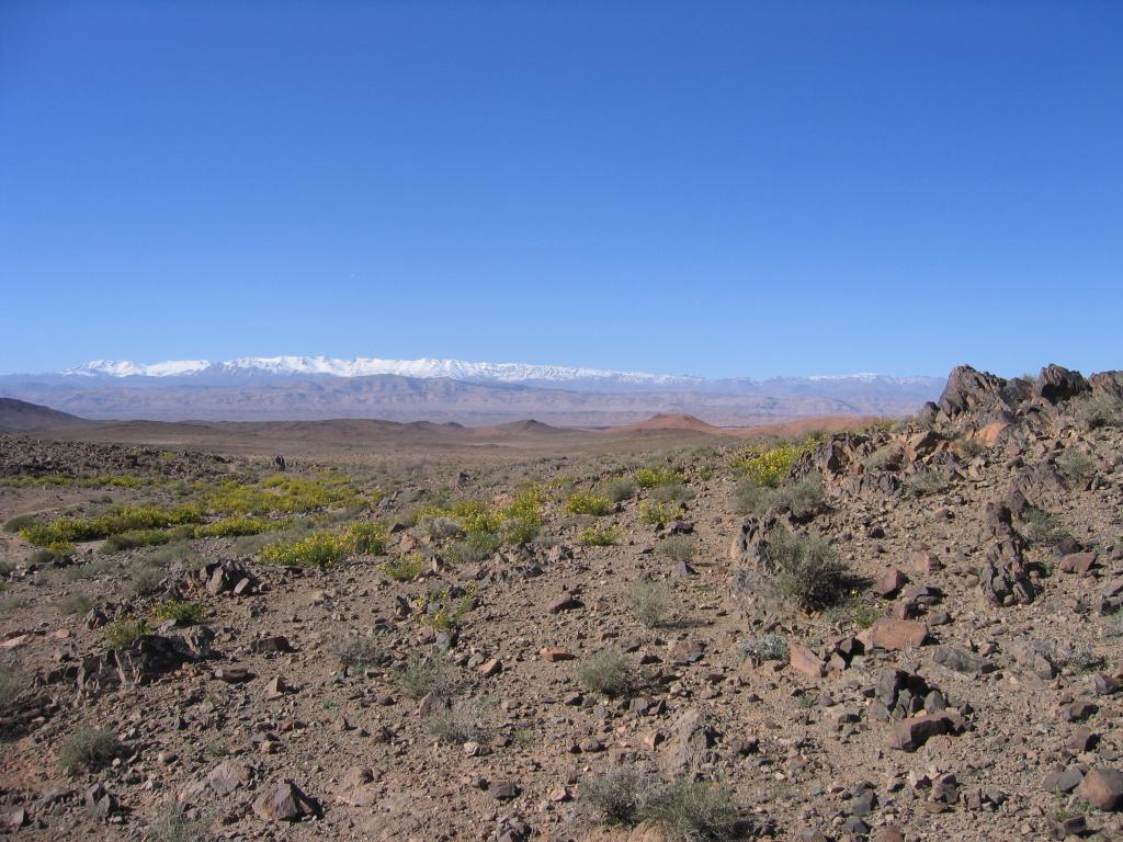 Maroc djebel sargho Vue sur l'Atlas