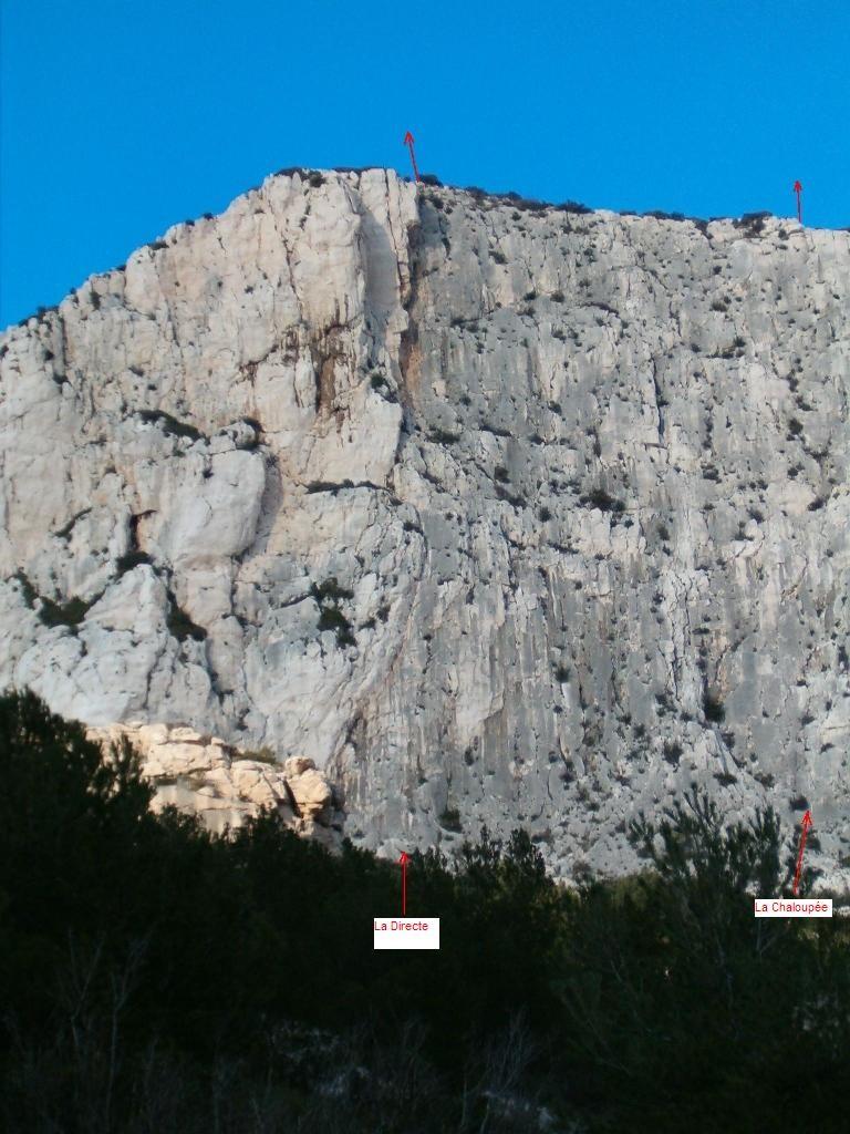 Cret St Michel face Sud  : Paroi Noire
