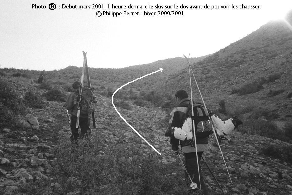 Photo B, topo Jebel ech Cheikh