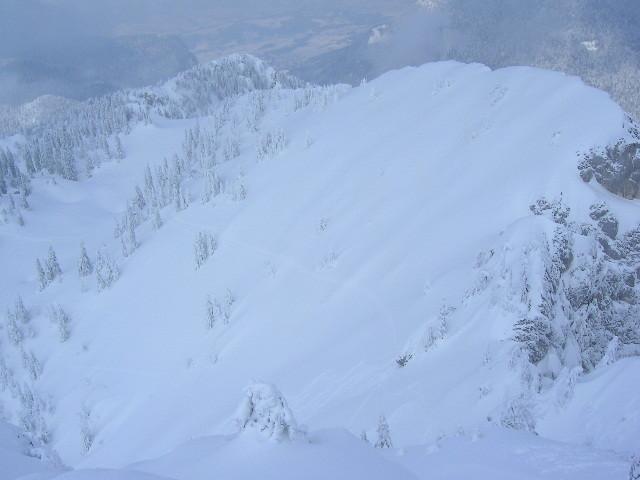 Combe Ouest du Charmant Som depuis le sommet