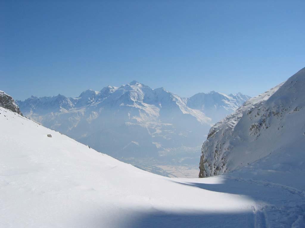 Vue sur le Mt-Blanc, depuis le col de la Forclaz