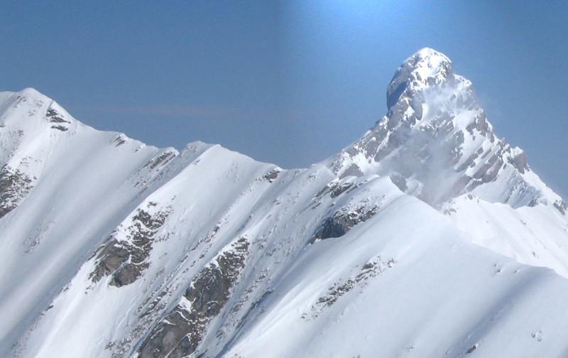 Pointe percée vue du sommet