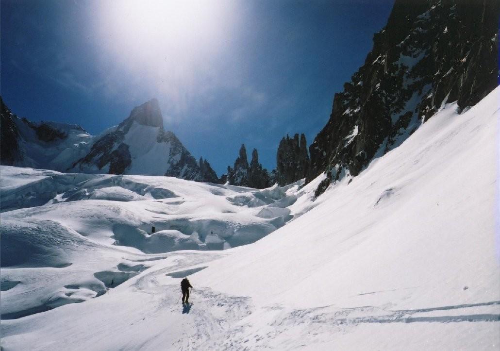 Le glacier du mont Mallet