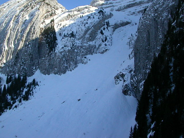 Itinéraire du versant N du col de l'encrenaz