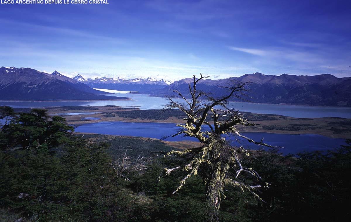 Lago Roca et Perito Moreno, vus du Cerro Cristal