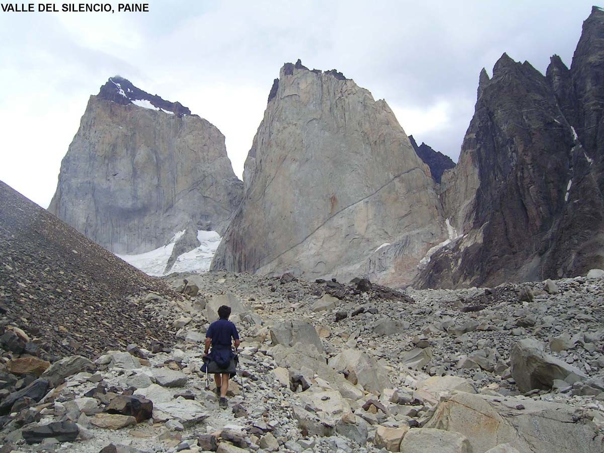 Valle del Silencio et Cerro Escudo, massif du Paine