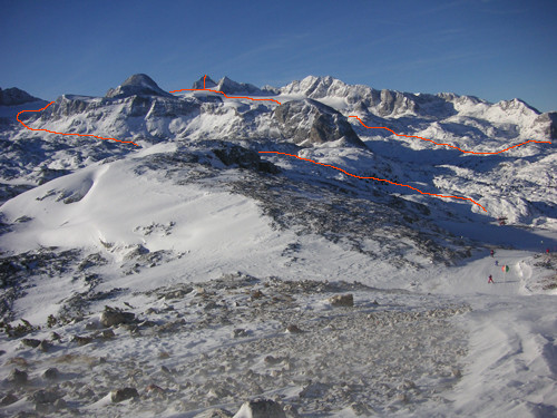 Traverse of Dachstein (2993m)